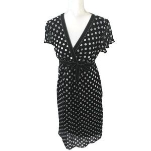 Motherhood Faux Wrap Polka Dot Maternity Dress